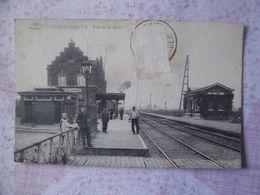 Cpa Ghislenghien Belgique La Gare - Belgique