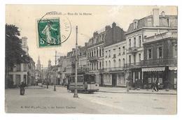 Cpa: 59 CAMBRAI - Rue De La Herse (Tramway, Café De La Terrasse) 1912  Ed. A. Béal Fils - Cambrai