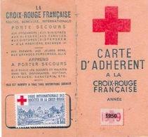 CARTE CROIX ROUGE Française 1950 - Cartes