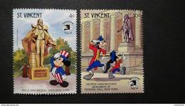 St. Vincent - 1989 - Mi:VC 1361 + 1363**MNH - Look Scan - Disney