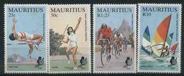 1985 Mauritius, Giochi Sportivi Isole Oceano Indiano , Serie Completa Nuova (leggere Macchie Al Verso) - Maurice (1968-...)