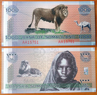 Somaliland 1000 Shillings 2006 UNC Radar 15751 - Banconote
