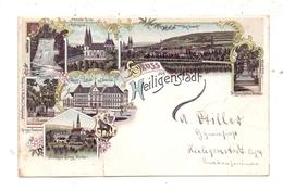 0-5630 HEILIGENSTADT, Lithographie 1897, 7 Abbildungen, Einriss - Heiligenstadt