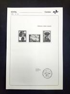 BRAZIL Brochure Edital 1984 25 Fungo Sem Selo Without Stamp Fungi - Briefe U. Dokumente