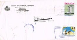 31131. Carta Aerea SANTA CRUZ (Bolivia) 1989. Camara Comercio Española - Bolivia