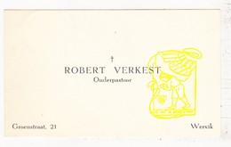 Visitekaartje EH Robert Verkest / Onderpastoor Te Wervik Van 1937-53 - Cartes De Visite