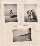 8AK4161 PHOTO AMATEUR 8 X 10.5 CM Lot De 3 Photos ANTIBES 1948 2 SCANS - Places