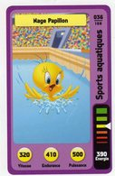 Trading Card Carte Auchan La Fete Du Sport 2014 Verso Domino Tex Avery N° 36 - Non Classificati