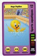 Trading Card Carte Auchan La Fete Du Sport 2014 Verso Domino Tex Avery N° 36 - Trading Cards