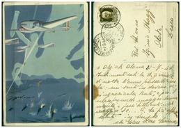 CARTOLINA - CV350 AVIAZIONE Arma Aeronautica, Con Frase Di Mussolini, Ed. Boeri, Roma, FG, Viaggiata 1941 Da Olgiate - Aviazione