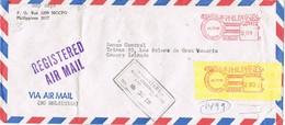 31133. Carta Certificada Aerea RIZAL (Filipinas) 1981. Franqueo Mecanico - Filipinas