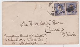 COLUMBUS INDIANA US MAIL COVER TO CHICAGO - 1847-99 Emissions Générales