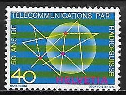 SUISSE    -   1971.    Y&T N° 885 **.    Télécommunications Par Radio-suisse - Suisse
