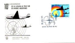 ARGENTINE. N°940 De 1973 Sur Enveloppe 1er Jour. Expédition Aérienne Au Pôle Sud. - Polar Flights