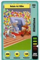 Trading Card Carte Auchan La Fete Du Sport 2014 Verso Domino Tex Avery N° 56 - Trading Cards