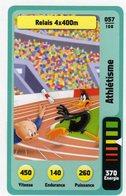 Trading Card Carte Auchan La Fete Du Sport 2014 Verso Domino Tex Avery N° 57 - Trading Cards