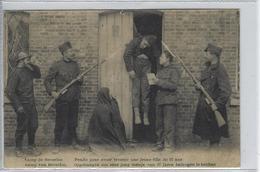 Camp De Beverloo.   -   Pendu Pour Avoir Trompé Une Jeune Fille De 97 Ans.   -   1923  Naar   Thorembais   St. Trond - Casernes