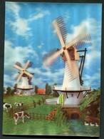 CARTE VISION RELIEF - MOULIN A VENT - 3 Dimensions - 3 D - Postcards