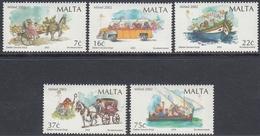 Malta 2002 - Christmas: Transportation - Mi 1248-1252 ** MNH - Malta