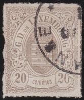 Luxembourg       .    Yvert     .    19        .  O      .        Oblitéré     .   /   .   Gebraucht - 1859-1880 Wappen & Heraldik