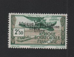 Faux Afrique équatorale Poste Aérienne N° 15b Double Surcharge 2 F. 50 Gomme Charnière - A.E.F. (1936-1958)