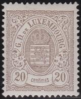 Luxembourg  .    Yvert     .  44       .    *     .   Neuf Avec Charniere  .  /   .  Mint-hinged - 1859-1880 Wappen & Heraldik
