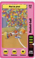 Trading Card Carte Auchan La Fete Du Sport 2014 Verso Domino Tex Avery N° 13 - Non Classificati