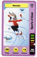Trading Card Carte Auchan La Fete Du Sport 2014 Verso Domino Tex Avery N° 76 - Trading Cards
