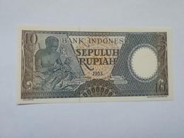 INDONESIA 10 RUPIAH 1963 - Indonésie