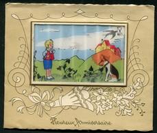 CARTE VISION RELIEF - HEUREUX ANNIVERSAIRE - 3 Dimensions - 3 D - Animée - Postcards