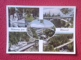 POSTAL POST CARD CARTE POSTALE CIRCULADA CON SELLO WITH STAMP HALSNING FRAN HAVERUD SWEDEN SVERIGE SUECIA ? VER FOTOS - Suecia