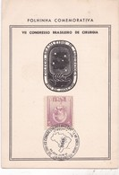 VII CONGRESSO BRASILEIRO DE CIRURGIA. XII CONGRESO INTERNACIONAL DE UROLOGIA ANO 1961 FOLHINA COMEMORATIVA-BRASIL- BLEUP - Medicine