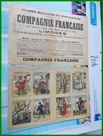 PUB RECLAME COMPAGNIE FRANCAISE LIMOGES Vetements IMAGES D'EPINAL Pellerin 1305 1307 Série Devinettes 20 26 - Advertising
