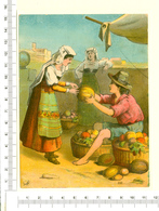 CHROMO LITHO..GRAND FORMAT...H  15 Cm  MARCHAND DE FRUITS - Vieux Papiers