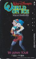 Telecarte Ancienne Japon / 110-011 - DISNEY ON ICE - PINOCCHIO & GEPETTO - JAPAN TOUR 89 Phonecard - Disney