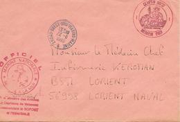Lettre En Franchise Centre D'Expertise Médicale Du Personnel Sous Marinier - Postmark Collection (Covers)