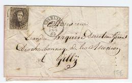Mooie Brief Leopold II ( N°10) Naar Gilly Vanuit Charleroi1863 - 1863-1864 Médaillons (13/16)