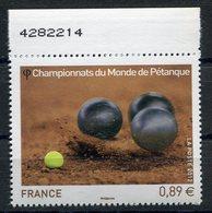 RC 11205 FRANCE N° 4684 CHAMPIONNATS DU MONDE DE PÉTANQUE NEUF ** - Bowls