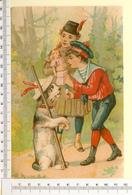 CHROMO LITHO..GRAND FORMAT...H  18 Cm  JEUX D'ENFANTS...POUPEE...CHIEN - Vieux Papiers