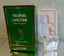 """Miniature  """"TROPHÉE """" De LANCÔME  Eau De Toilette 3,5 Ml Dans Sa  Boite (M076-3) - Miniatures Hommes (avec Boite)"""