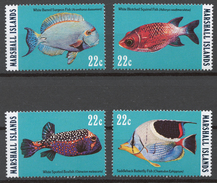 Marshall Islands 1985 Mi# 50-53** FISH - Marshall