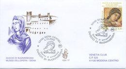 ITALIA - FDC  VENETIA 2003 - DUCCIO DI BUONINSEGNA - ARTE - ANNULLO SPECIALE - VIAGGIATA - 6. 1946-.. Repubblica