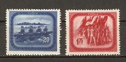 Roumanie 1952 - Culture Physique Et Sport - Série Complète MNH -1283/4 - Rameurs - Parade Sportive - Drapeaux - 1948-.... Républiques