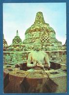 INDONESIA OPEN STUPA WITH A BUDDHA INSIDE AT BOROBUDUR 1963 - Indonesia