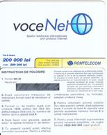 ROMANIA - VoceNet, Romtelecom Prepaid Card 200000 Lei(orange Writing), Exp.date 30/06/05, Mint - Romania