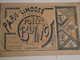PARIS, LIMOGES, Toiles, Blanc, Catalogue De  Vente, Vers 1900 - Publicités