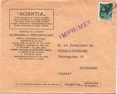 Busta Intestata Per Svezia Affrancata Con Italia Turrita L 12 ( 218 ) - 6. 1946-.. Repubblica