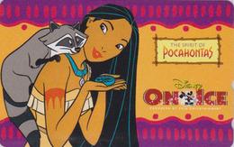 Télécarte NEUVE Japon / 110-016 - DISNEY ON ICE - POCAHONTAS & Raccoon - Japan MINT Movie Phonecard - Disney