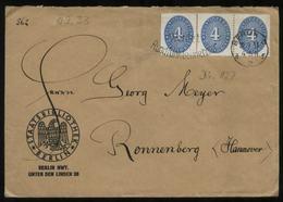 S1731 DR 4 Pfg Dienstpost MeF Briefumschlag Staatsbibliothek , Gebraucht Berlin - Ronnenberg 1933 ,Bedarfserhaltung. - Deutschland