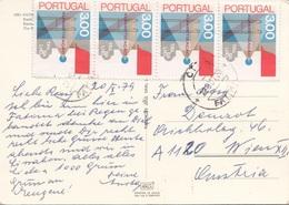PORTUGAL 1979 - 4 Sondermarken Auf Ak - 1910-... Republik